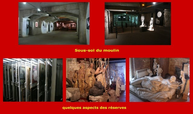 Sous-sol du moulin et réserves