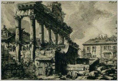 PIRANESE Temple de la concorde