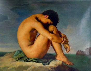 H. FLANDRIN Jeune homme nu... 1836