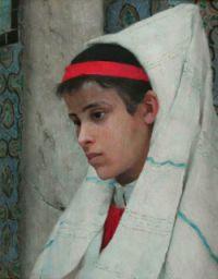 REALIER-DUMAS   Jeune fille arabe